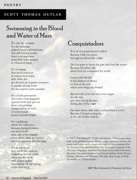 CultureCult Magazine issue 10 poems