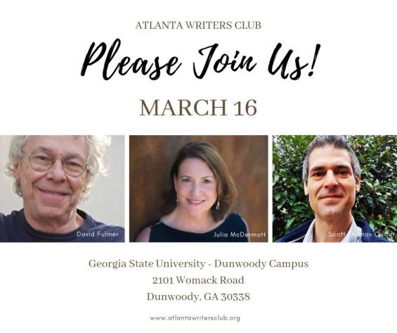 Atlanta Writers Club (March 16, 2019)